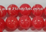 CRC506 15.5 inches 16mm round synthetic rhodochrosite beads