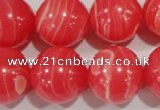 CRC508 15.5 inches 20mm round synthetic rhodochrosite beads