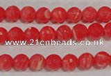 CRC512 15.5 inches 8mm faceted round synthetic rhodochrosite beads