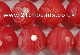 CRC518 15.5 inches 20mm faceted round synthetic rhodochrosite beads