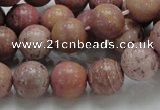 CRC54 15.5 inches 12mm round rhodochrosite gemstone beads wholesale