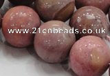 CRC57 15.5 inches 22mm round rhodochrosite gemstone beads wholesale