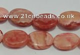 CRC594 15.5 inches 13*18mm oval imitation rhodochrosite beads