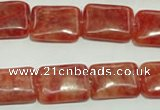 CRC614 15.5 inches 13*18mm rectangle imitation rhodochrosite beads