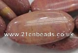CRC80 15.5 inches 25*50mm oval rhodochrosite gemstone beads