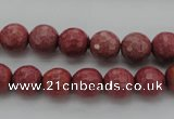 CRC803 15.5 inches 10mm faceted round Brazilian rhodochrosite beads