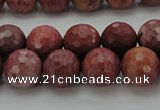 CRC804 15.5 inches 12mm faceted round Brazilian rhodochrosite beads
