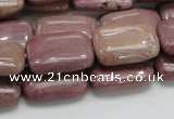 CRC82 15.5 inches 13*18mm rectangle rhodochrosite gemstone beads