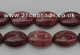 CRC832 15.5 inches 12*16mm oval Brazilian rhodochrosite beads