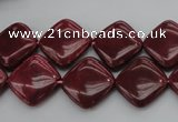CRC841 15.5 inches 14*14mm diamond Brazilian rhodochrosite beads