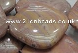 CRC87 15.5 inches 40*40mm diamond rhodochrosite gemstone beads