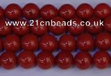 CRE321 15.5 inches 6mm round red jasper beads wholesale