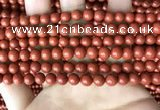 CRE351 15.5 inches 6mm round red jasper beads wholesale