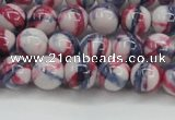CRF406 15.5 inches 8mm round dyed rain flower stone beads wholesale