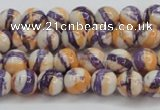 CRF410 15.5 inches 4mm round dyed rain flower stone beads wholesale