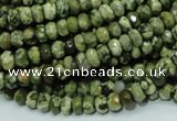 CRH51 15.5 inches 4*6mm faceted rondelle rhyolite beads wholesale