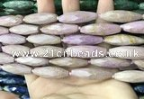CRI145 15.5 inches 10*30mm faceted rice phosphosiderite beads