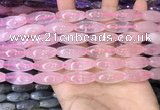 CRI300 15.5 inches 10*25mm rice rose quartz gemstone beads