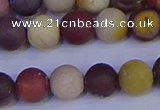 CRO1003 15.5 inches 10mm round matte mookaite gemstone beads