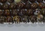 CRO1170 15.5 inches 4mm round fire lace opal gemstone beads