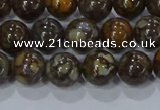 CRO1172 15.5 inches 8mm round fire lace opal gemstone beads