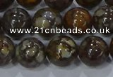 CRO1174 15.5 inches 12mm round fire lace opal gemstone beads