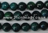 CRO223 15.5 inches 10mm round dyed chrysocolla beads wholesale