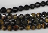 CRO27 15.5 inches 6mm round blue tiger eye beads wholesale
