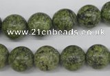 CRO352 15.5 inches 12mm round green lace gemstone beads wholesale