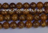 CRO880 15.5 inches 4mm round elephant blood stone beads