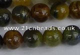 CRO904 15.5 inches 12mm round golden pietersite beads wholesale