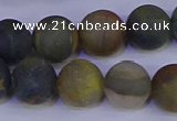CRO915 15.5 inches 14mm round matte golden pietersite beads