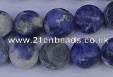 CRO954 15.5 inches 12mm round matte sodalite beads wholesale