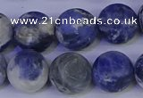CRO955 15.5 inches 14mm round matte sodalite beads wholesale