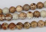 CRO98 15.5 inches 8mm round picture jasper beads wholesale