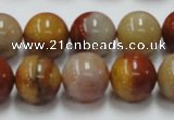 CRS05 15.5 inches 14mm round rainbow stone beads wholesale