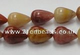 CRS06 15.5 inches 10*15mm teardrop rainbow stone beads wholesale