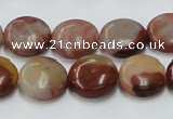 CRS14 15.5 inches 15mm flat round rainbow stone beads wholesale