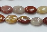 CRS16 15.5 inches 10*14mm oval rainbow stone beads wholesale