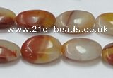 CRS17 15.5 inches 13*18mm oval rainbow stone beads wholesale