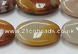 CRS19 15.5 inches 22*30mm oval rainbow stone beads wholesale