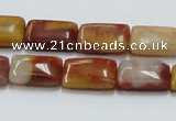 CRS20 15.5 inches 10*15mm rectangle rainbow stone beads wholesale