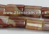 CRS24 15.5 inches 15*20mm flat column rainbow stone beads wholesale