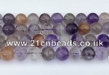 CRU1015 15.5 inches 12mm round mixed rutilated quartz beads