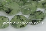 CRU112 15.5 inches 16*20mm faceted freefrom green rutilated quartz beads