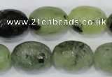 CRU216 15 inches 15*20mm faceted egg shape green rutilated quartz beads