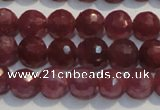 CRZ1011 15.5 inches 5.3mm - 5.8mm faceted round AAA grade ruby beads