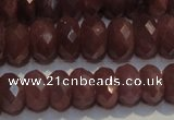 CRZ1015 15.5 inches 5*7mm faceted rondelle A- grade ruby beads