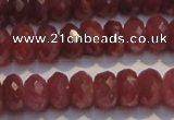 CRZ1025 15.5 inches 3*5mm faceted rondelle AA grade ruby beads