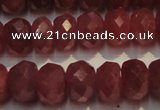 CRZ1029 15.5 inches 3*5mm faceted rondelle AAA grade ruby beads